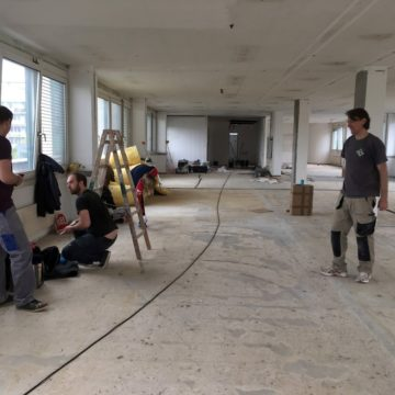 Team sisu hilft bei Umbau