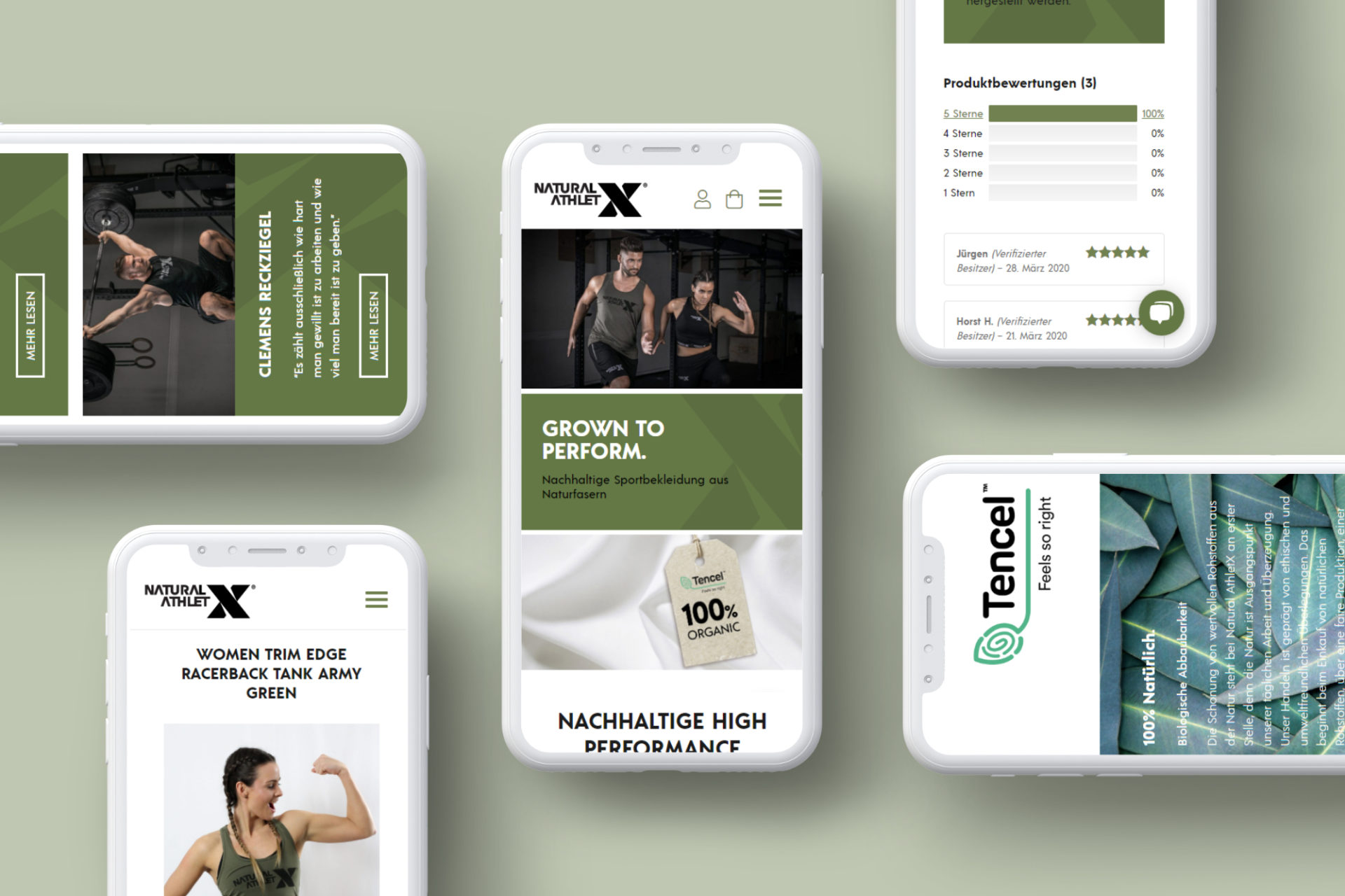 mobile screens von natural athletx