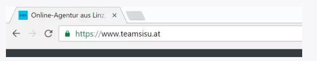 Browserleiste - URL mit gültigem SSL Zertifikat