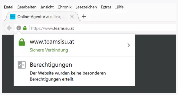 SSL-Zertifikat in der browserleiste